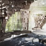 Chalmersstudenter ställer ut digitaltillverkat trä